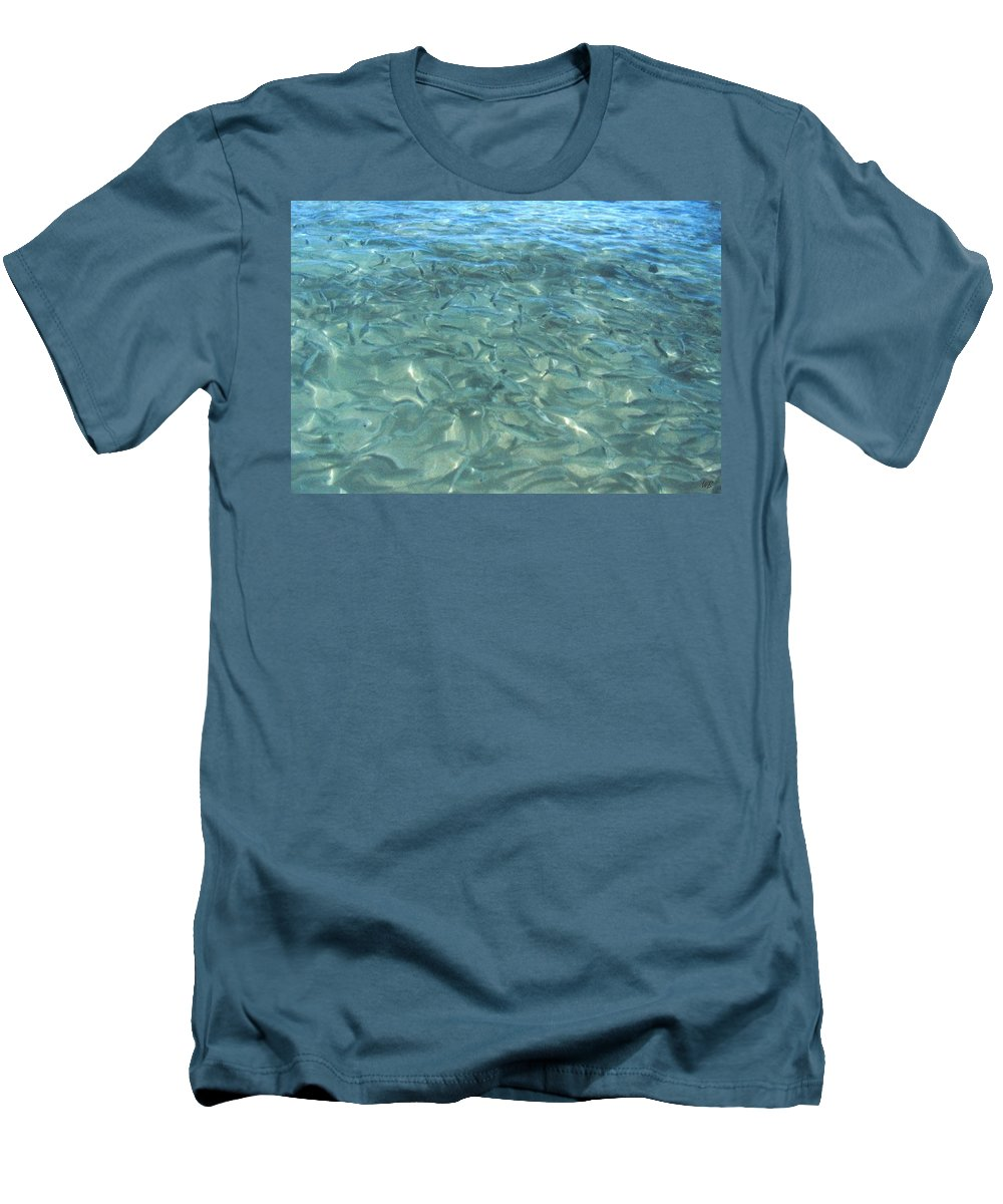 1986 Men's T-Shirt (Athletic Fit) featuring the photograph Swarming Fish by Will Borden
