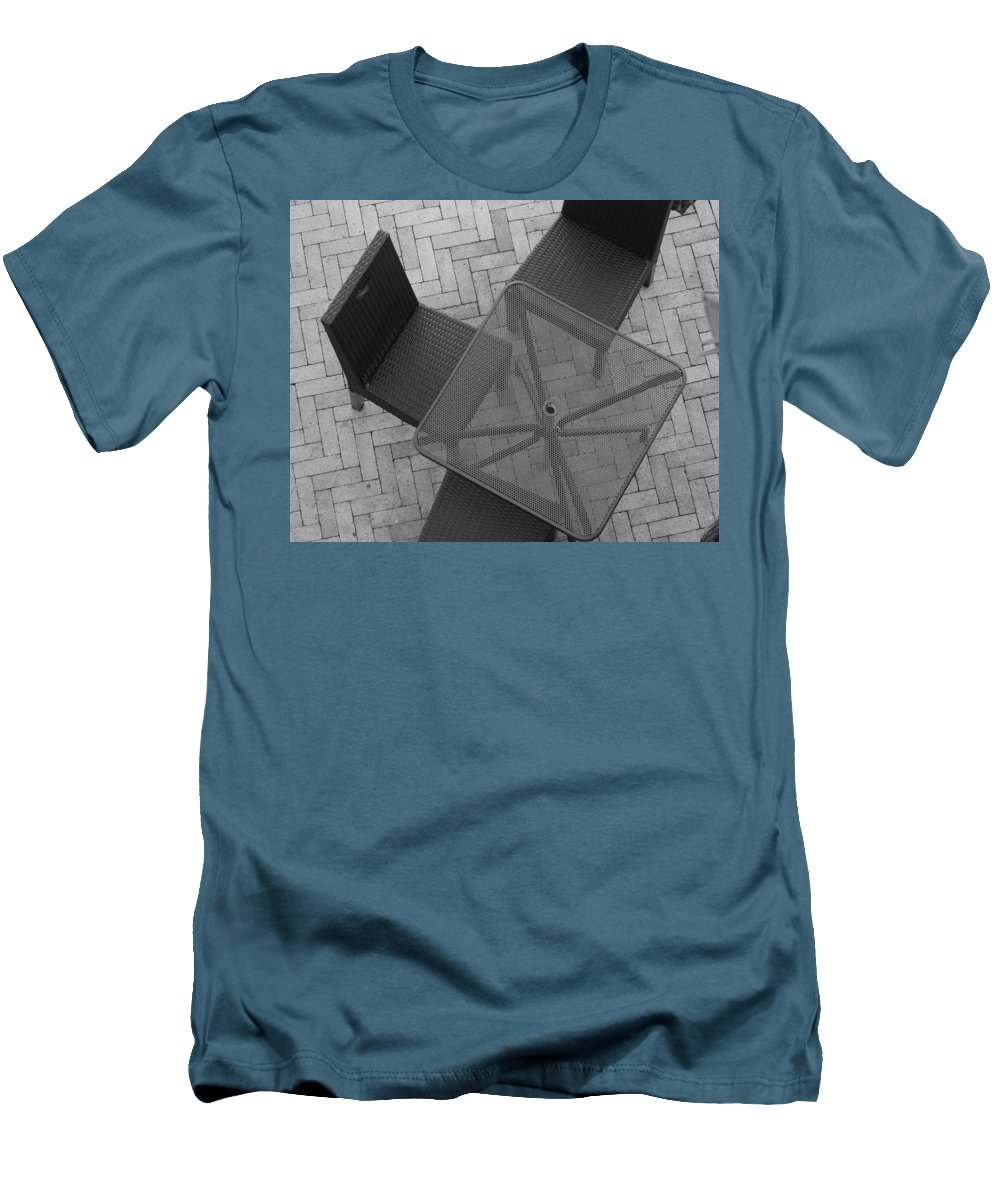 Table Men's T-Shirt (Athletic Fit) featuring the photograph Table Chairs From Above by Rob Hans