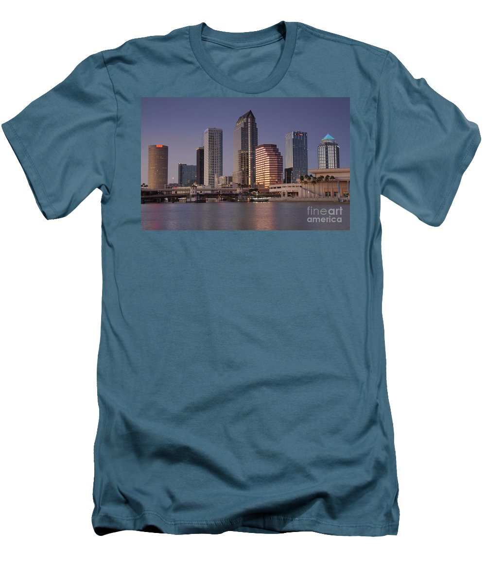 Tampa Florida Men's T-Shirt (Athletic Fit) featuring the photograph Tampa Florida by David Lee Thompson