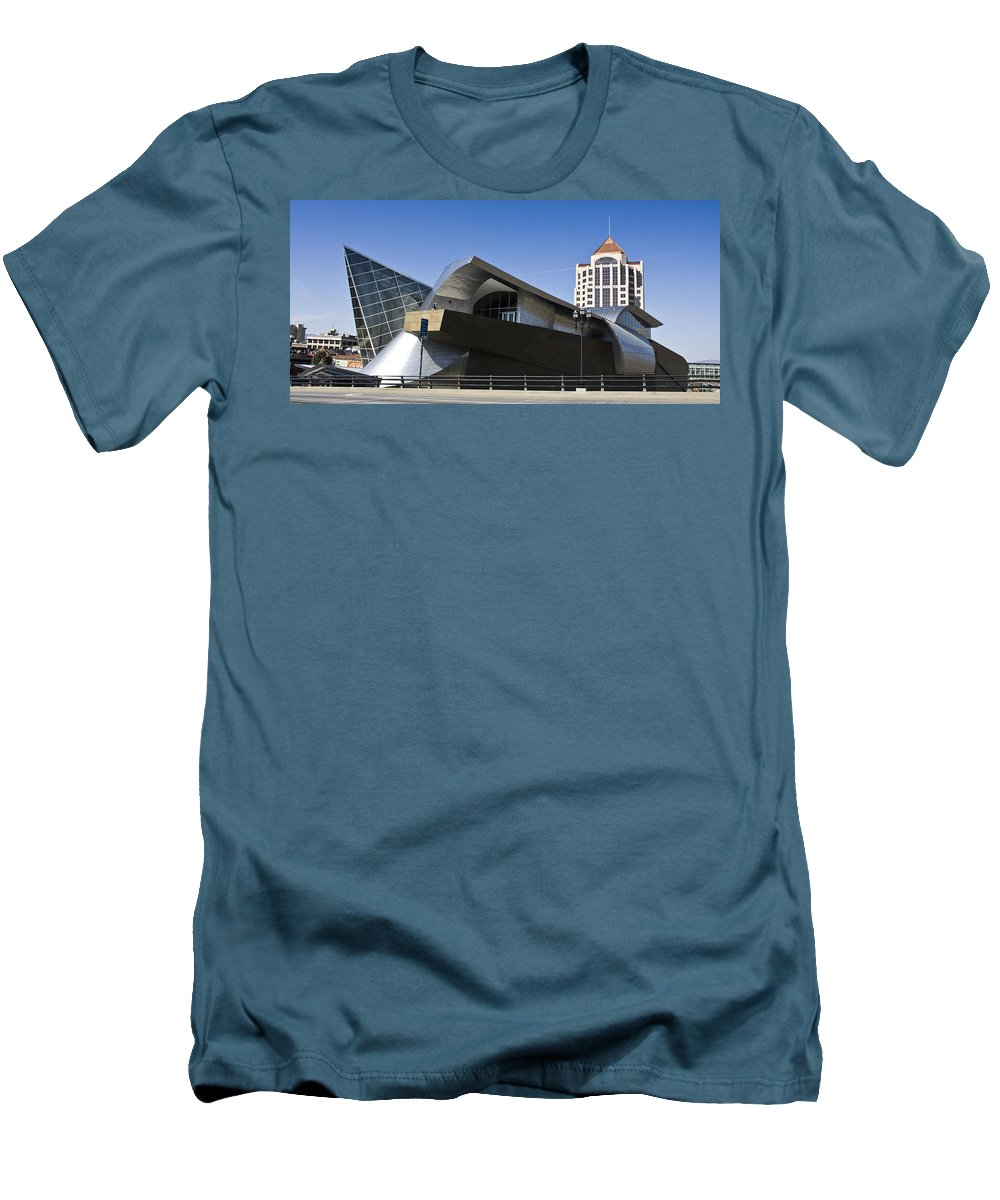 Roanoke Men's T-Shirt (Athletic Fit) featuring the photograph Taubman And Tower Roanoke Virginia by Teresa Mucha