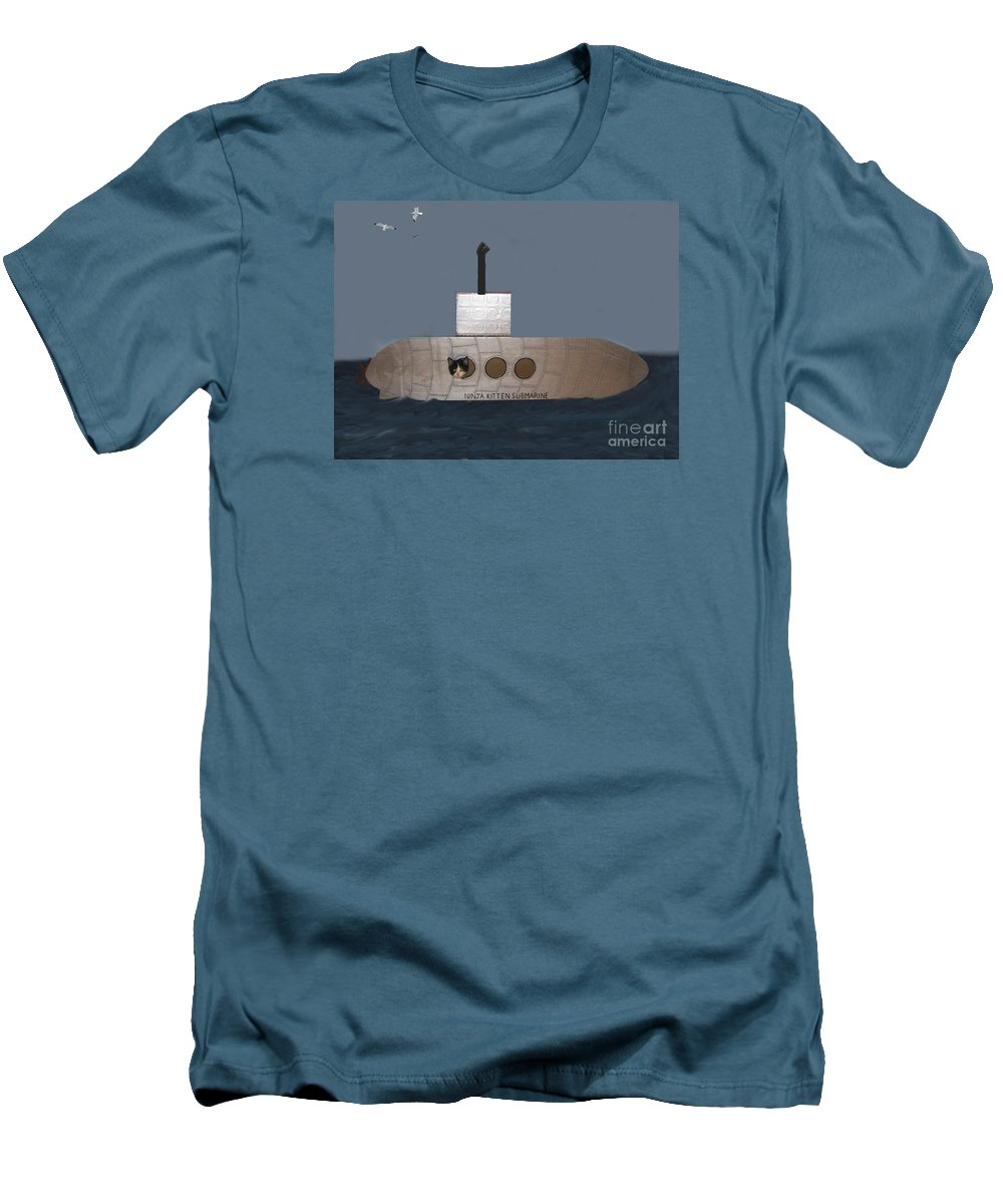 Children Men's T-Shirt (Athletic Fit) featuring the photograph Teddy In Submarine by Reb Frost