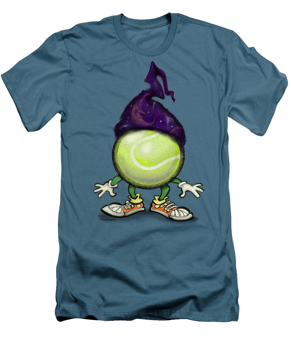 Tennis Men's T-Shirt (Athletic Fit) featuring the digital art Tennis Wiz by Kevin Middleton