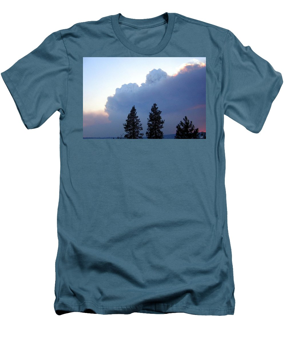 Terrace Mountain Smoke Men's T-Shirt (Athletic Fit) featuring the photograph Terrace Mountain Smoke by Will Borden
