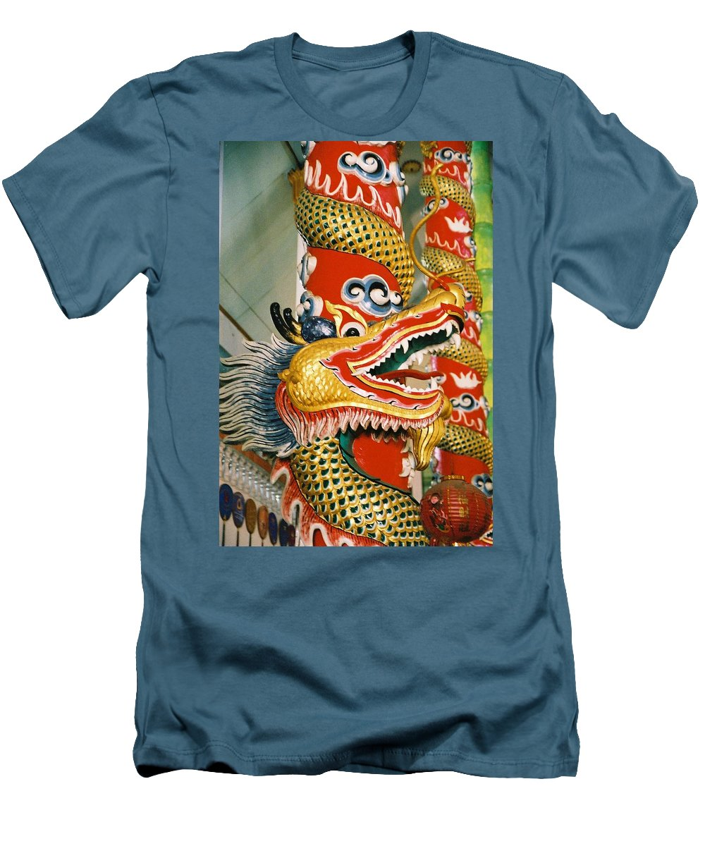 Animal Men's T-Shirt (Athletic Fit) featuring the photograph Thai Dragon by Mary Rogers
