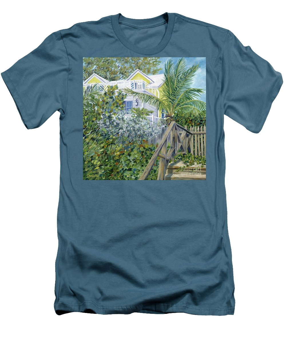 Beach House Men's T-Shirt (Athletic Fit) featuring the painting The Beach House by Danielle Perry