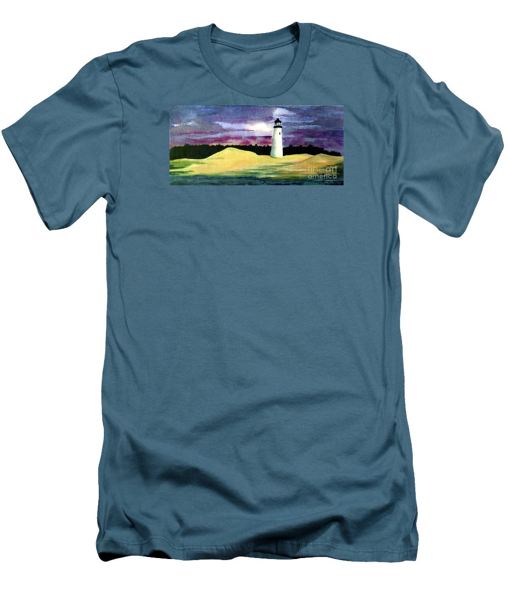 Fine Art Men's T-Shirt (Athletic Fit) featuring the painting The Beacon by Patricia Griffin Brett