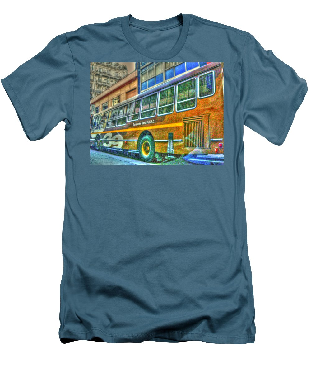 Bus Men's T-Shirt (Athletic Fit) featuring the photograph The Bus by Francisco Colon