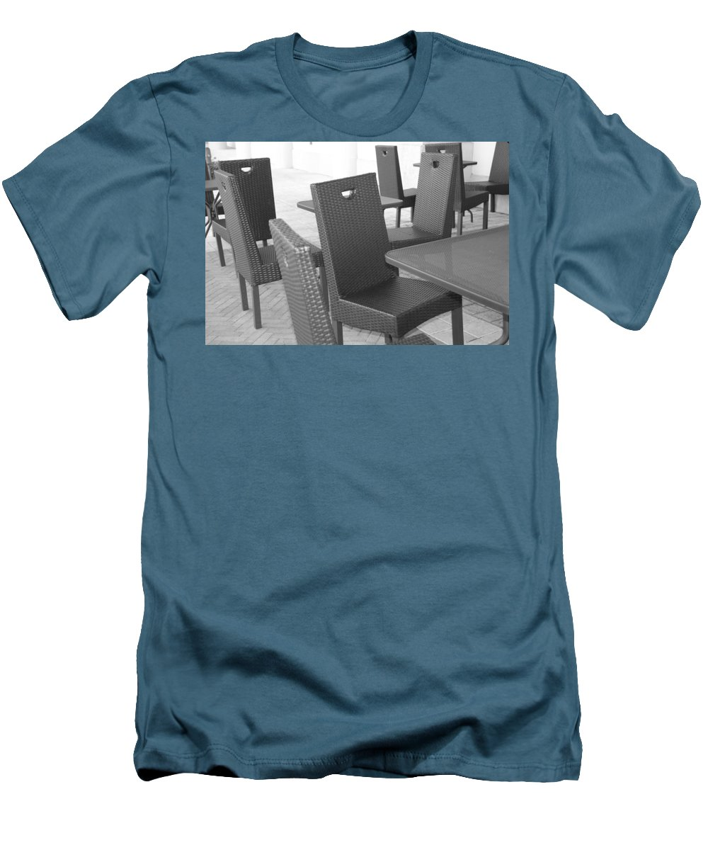 Pop Art Men's T-Shirt (Athletic Fit) featuring the photograph The Chairs by Rob Hans