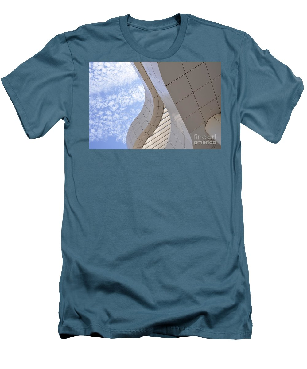 Clay Men's T-Shirt (Athletic Fit) featuring the photograph The Getty by Clayton Bruster