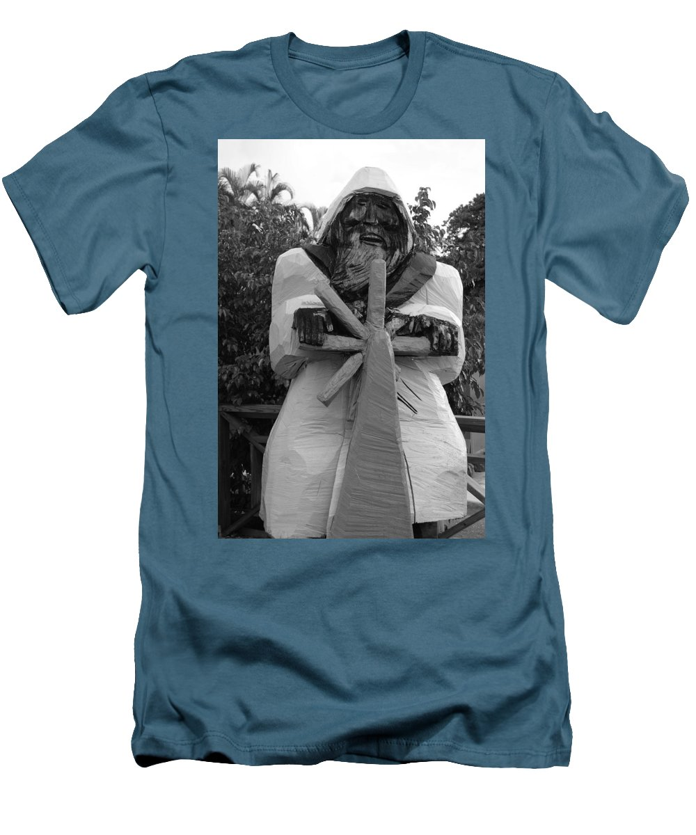 Black And White Men's T-Shirt (Athletic Fit) featuring the photograph The Gordon Fisherman by Rob Hans
