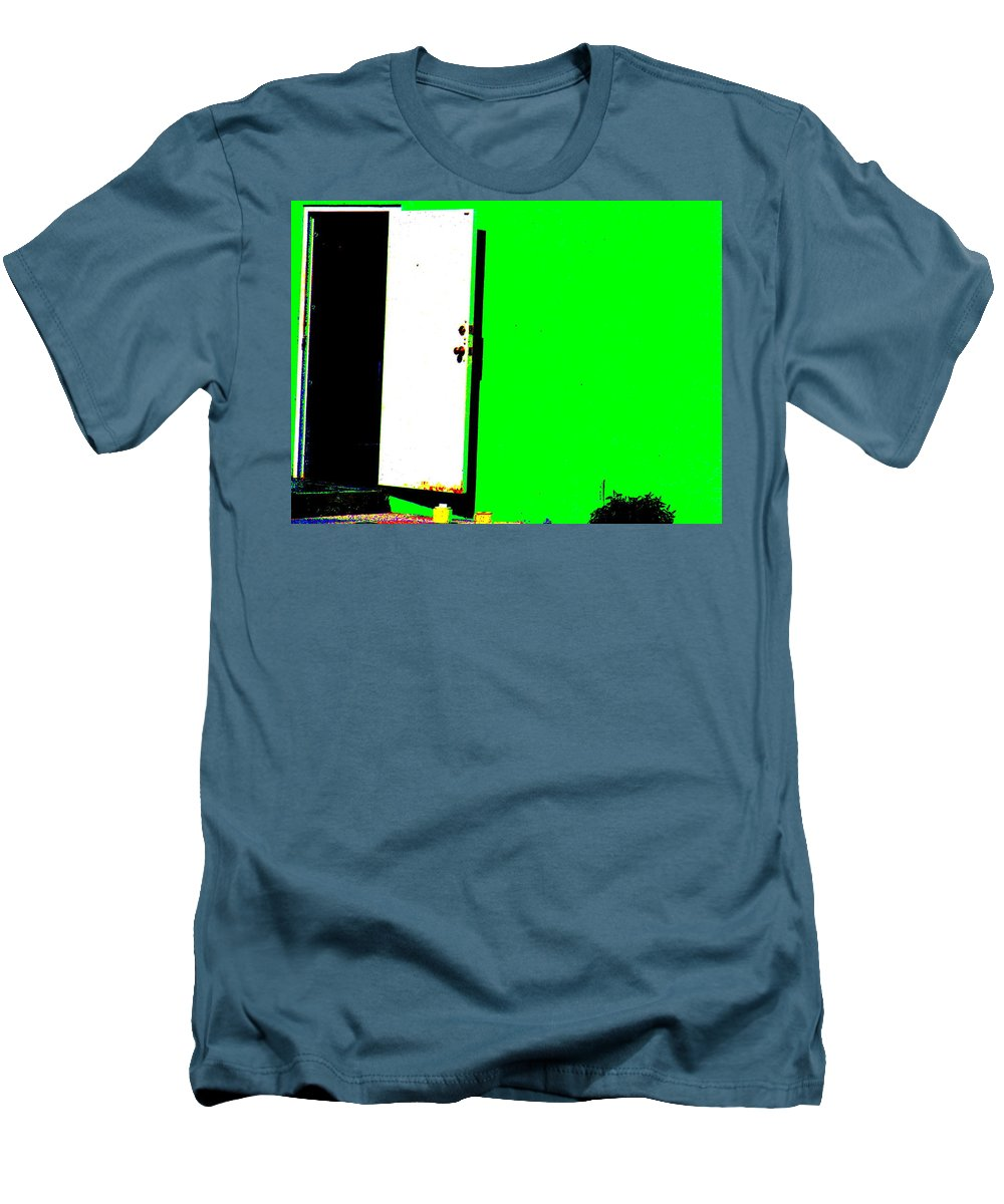 Still Life Men's T-Shirt (Athletic Fit) featuring the photograph The Green Door by Ed Smith
