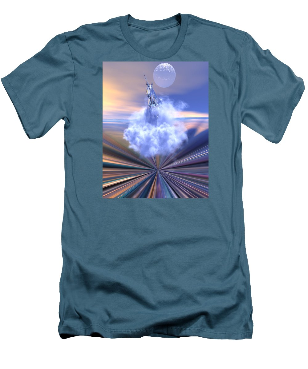 Bryce Men's T-Shirt (Athletic Fit) featuring the digital art The Last Of The Unicorns by Claude McCoy