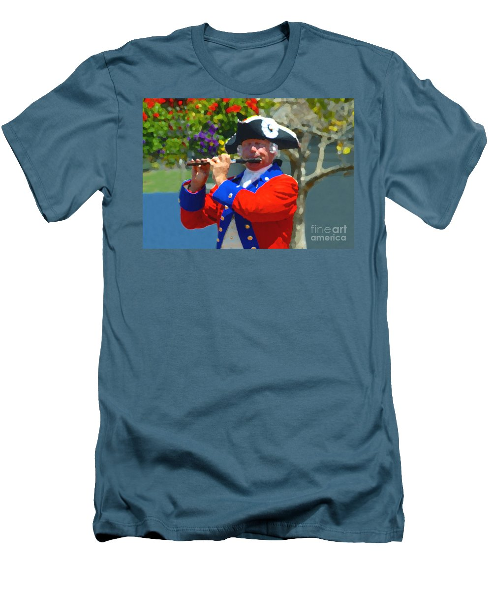 Patriot Men's T-Shirt (Athletic Fit) featuring the photograph The Patriot by David Lee Thompson