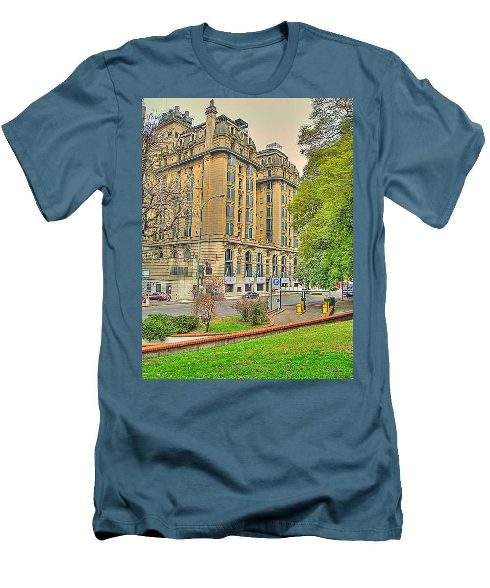 Hotel Men's T-Shirt (Athletic Fit) featuring the photograph The Plaza by Francisco Colon