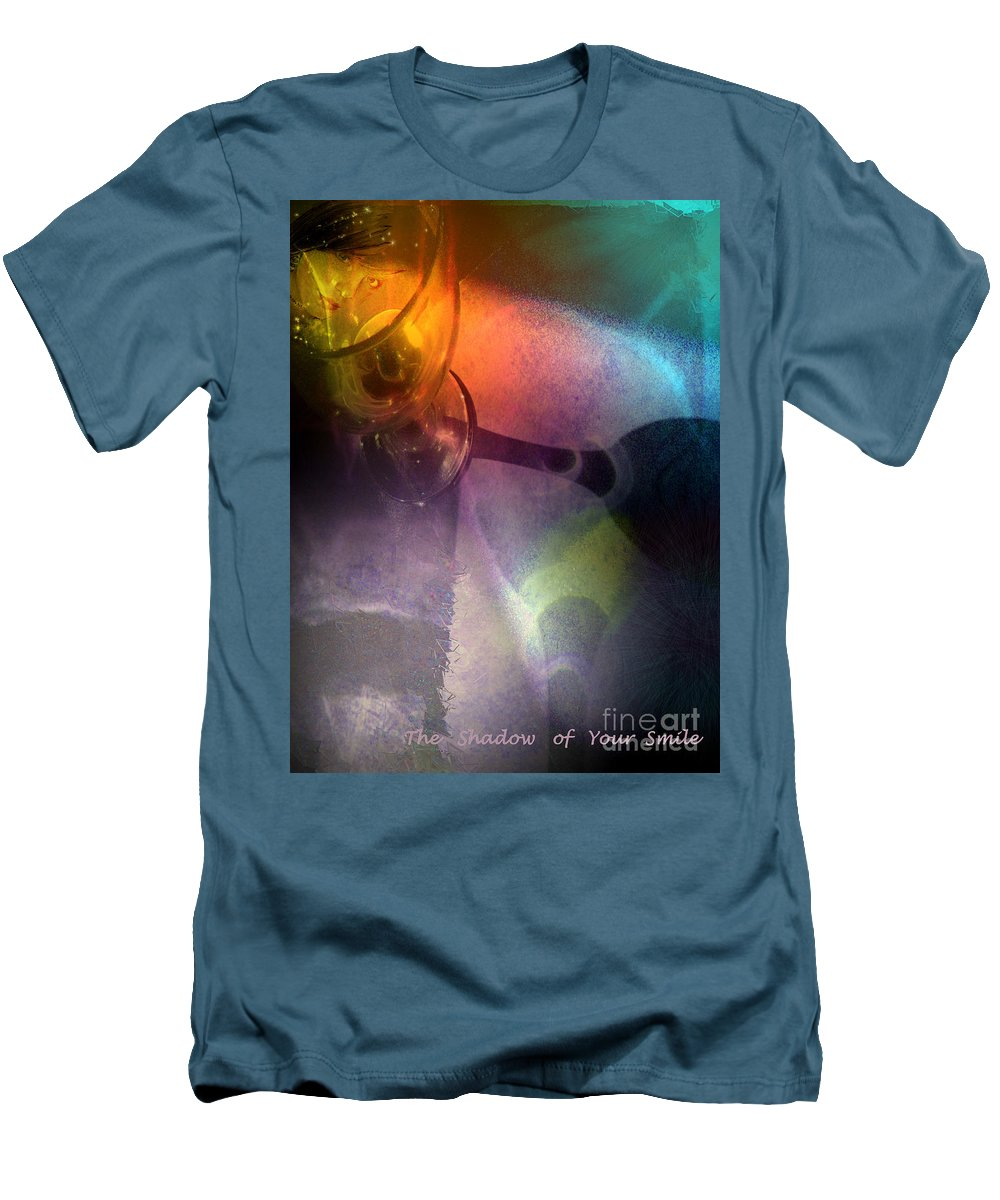 Fantasy Men's T-Shirt (Athletic Fit) featuring the painting The Shadow Of Your Smile by Miki De Goodaboom