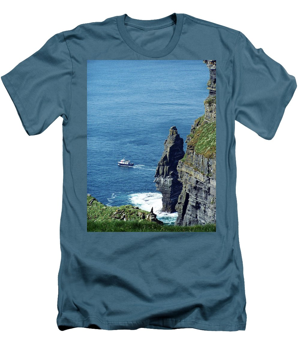 Irish Men's T-Shirt (Athletic Fit) featuring the photograph The Stack And The Jack B Cliffs Of Moher Ireland by Teresa Mucha