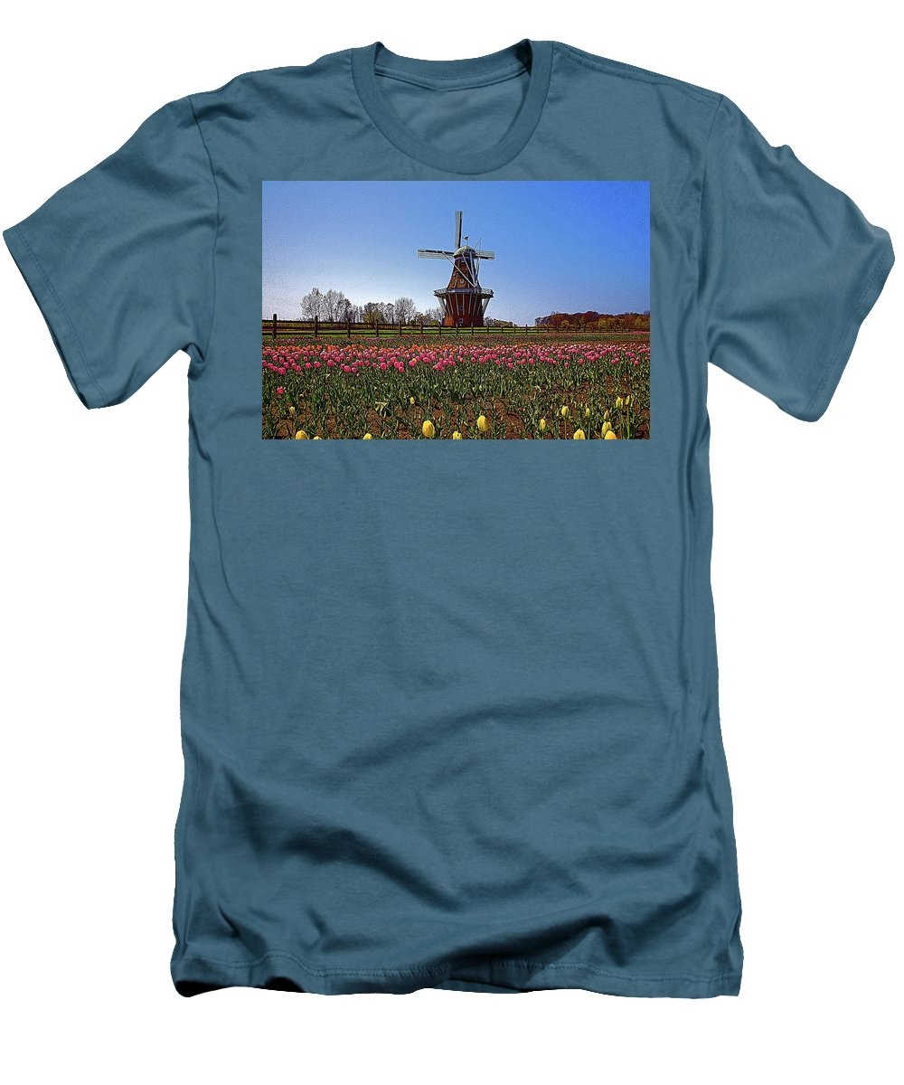 Wind Mill Men's T-Shirt (Athletic Fit) featuring the photograph The Windmill Poster by Robert Pearson