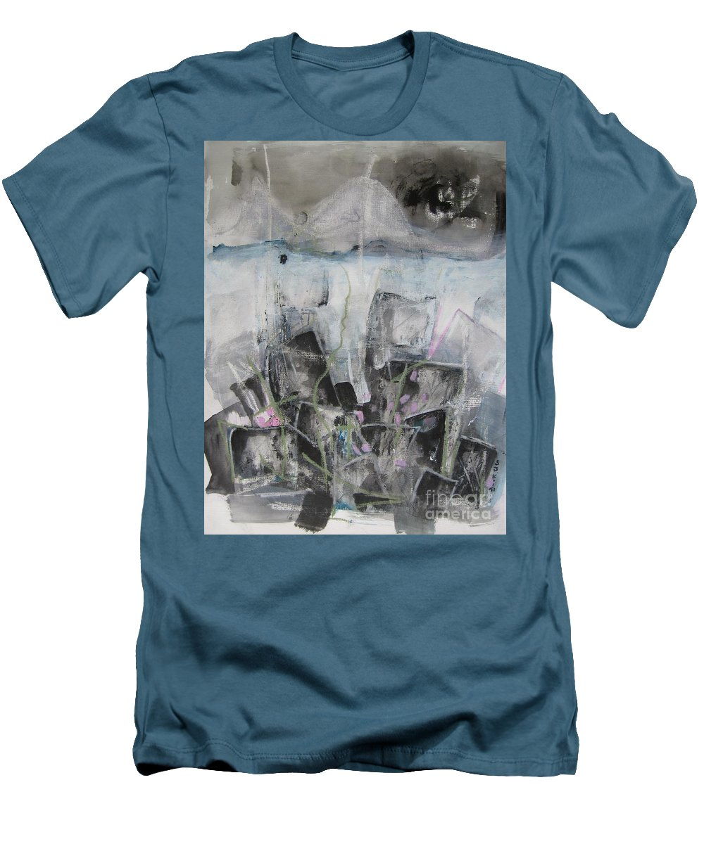 Cemetery Men's T-Shirt (Athletic Fit) featuring the painting Three Arms by Seon-Jeong Kim