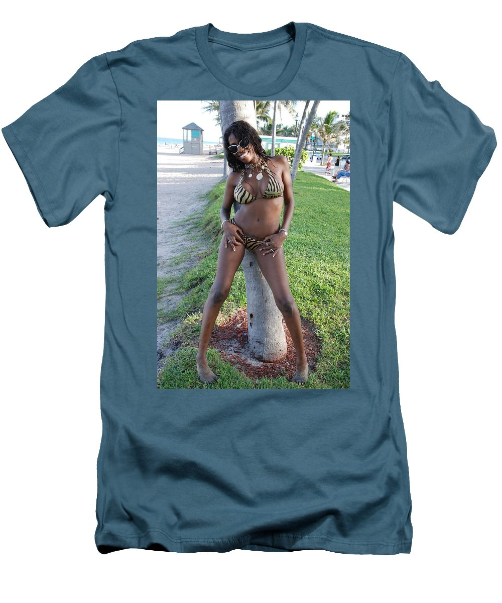 Sand Men's T-Shirt (Athletic Fit) featuring the photograph Tiger Strips by Rob Hans