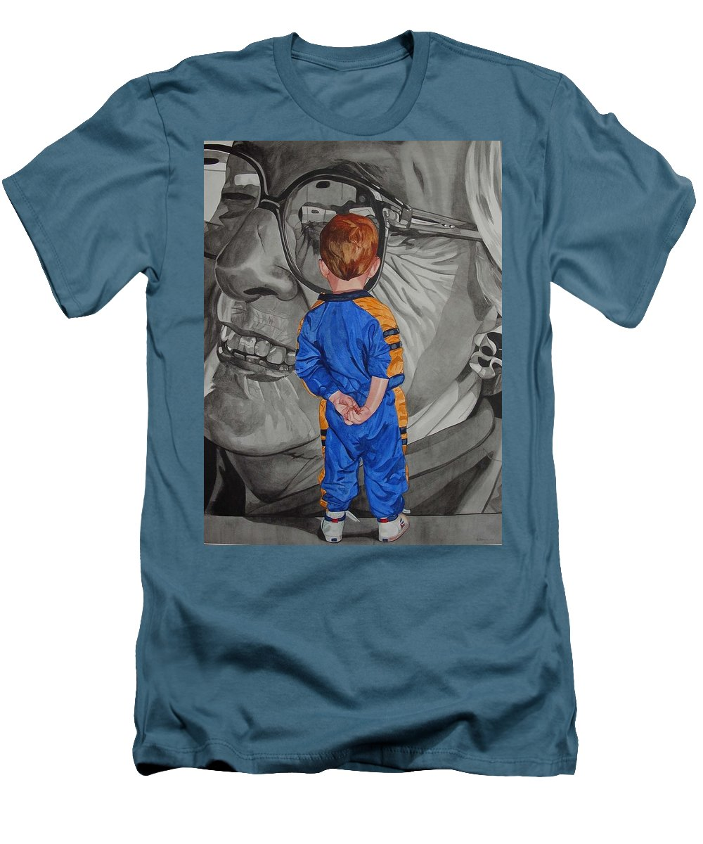 Children Men's T-Shirt (Athletic Fit) featuring the painting Timeless Contemplation by Valerie Patterson