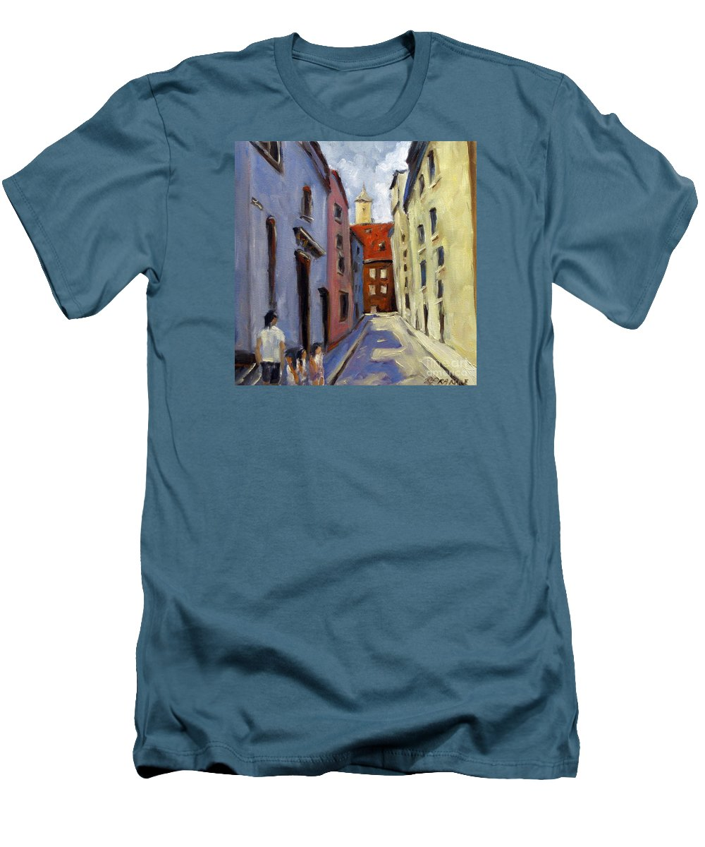 Urban Men's T-Shirt (Athletic Fit) featuring the painting Tour Of The Old Town by Richard T Pranke