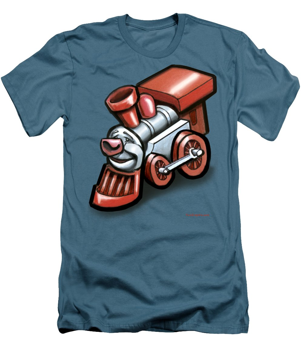 Train Men's T-Shirt (Athletic Fit) featuring the digital art Toy Train by Kevin Middleton