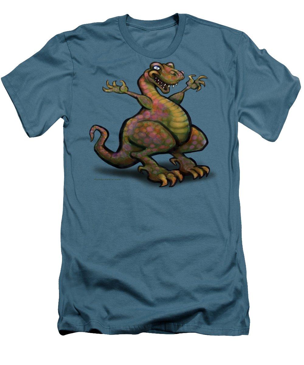 Tyrannosaurus Men's T-Shirt (Athletic Fit) featuring the digital art Tyrannosaurus Rex by Kevin Middleton