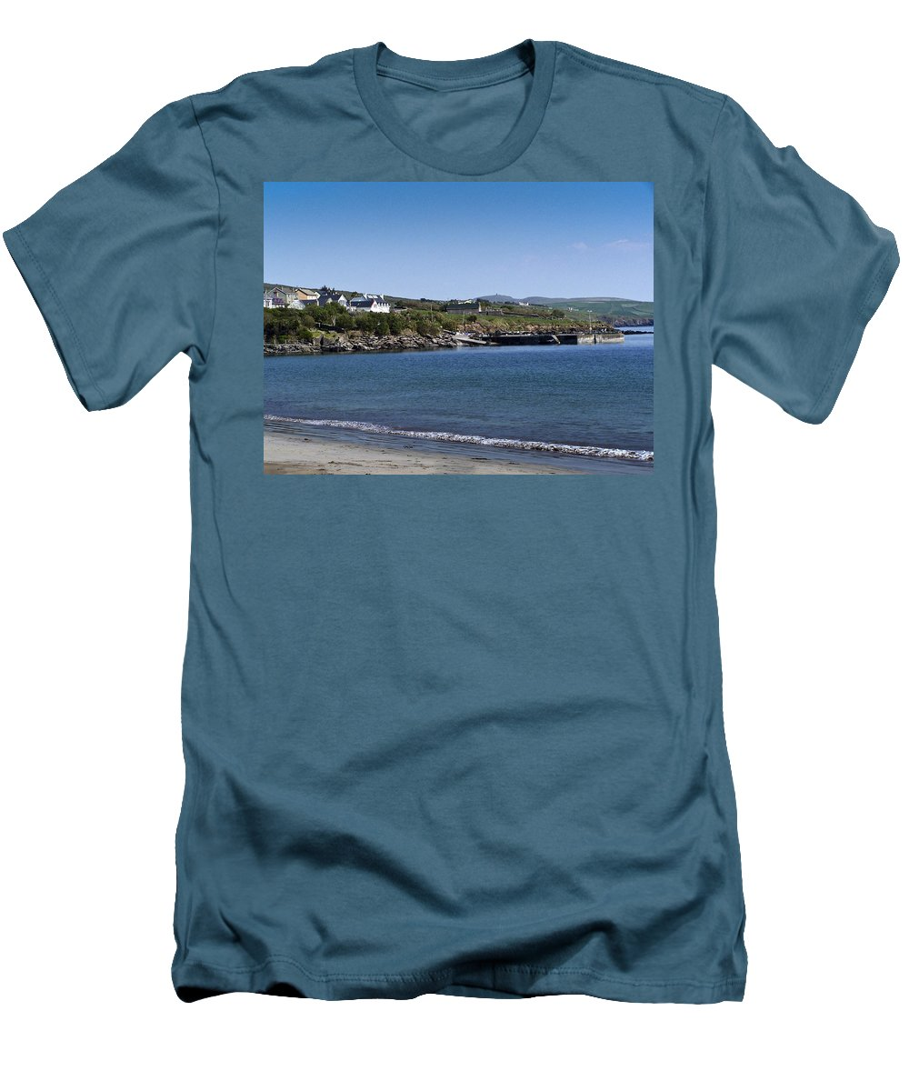 Irish Men's T-Shirt (Athletic Fit) featuring the photograph Ventry Beach And Harbor Ireland by Teresa Mucha
