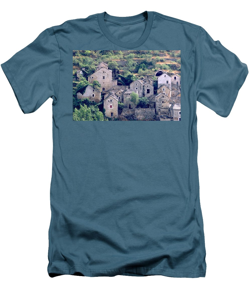 Village Men's T-Shirt (Athletic Fit) featuring the photograph Village by Flavia Westerwelle