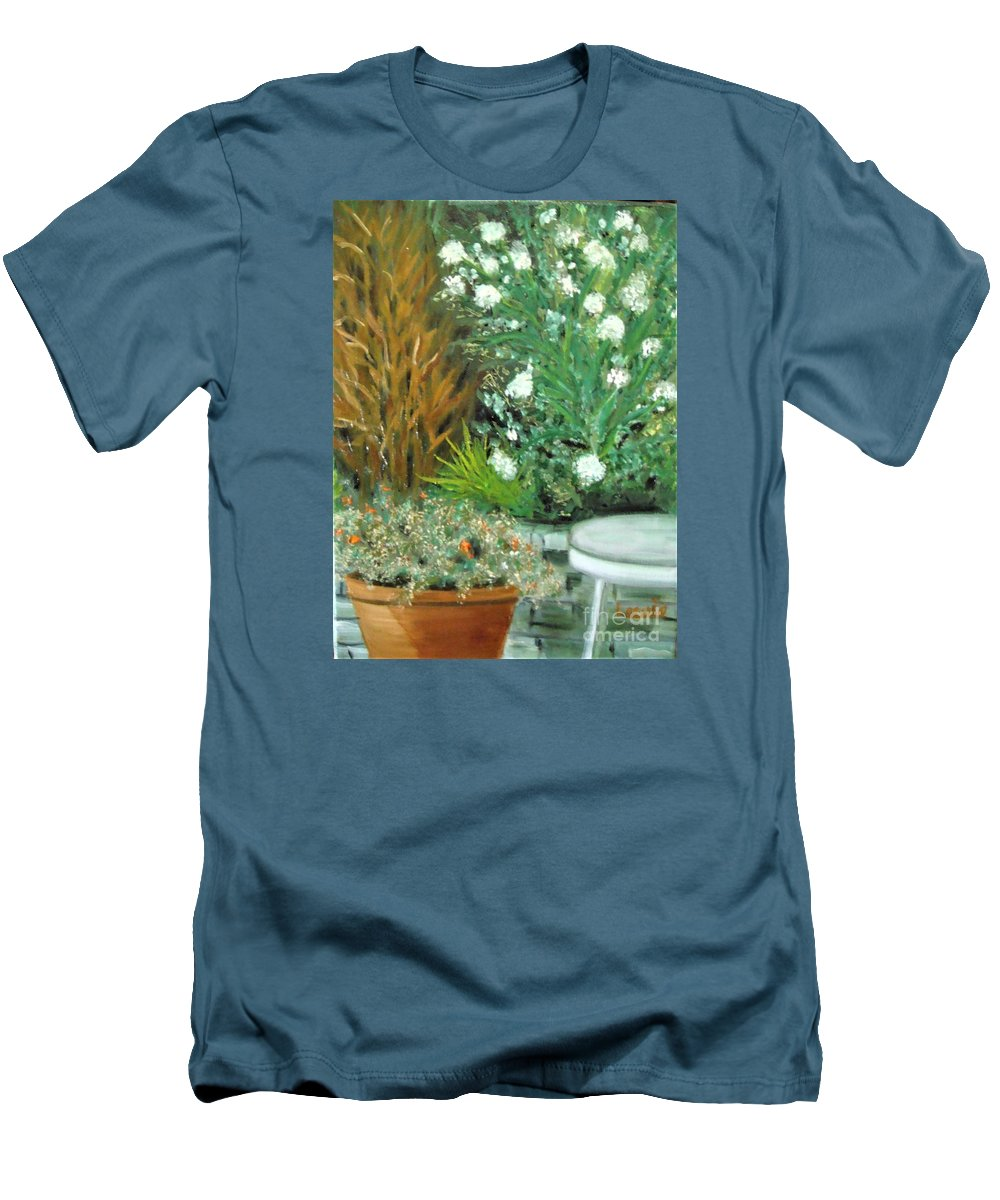 Virginia Men's T-Shirt (Athletic Fit) featuring the painting Virginia's Garden by Laurie Morgan
