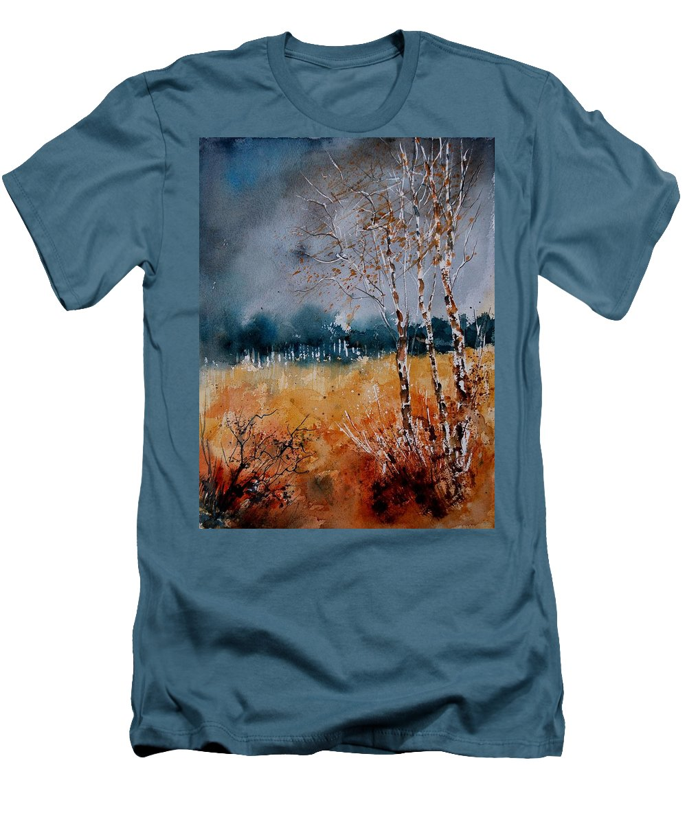 Tree Men's T-Shirt (Athletic Fit) featuring the painting Watercolor 030308 by Pol Ledent