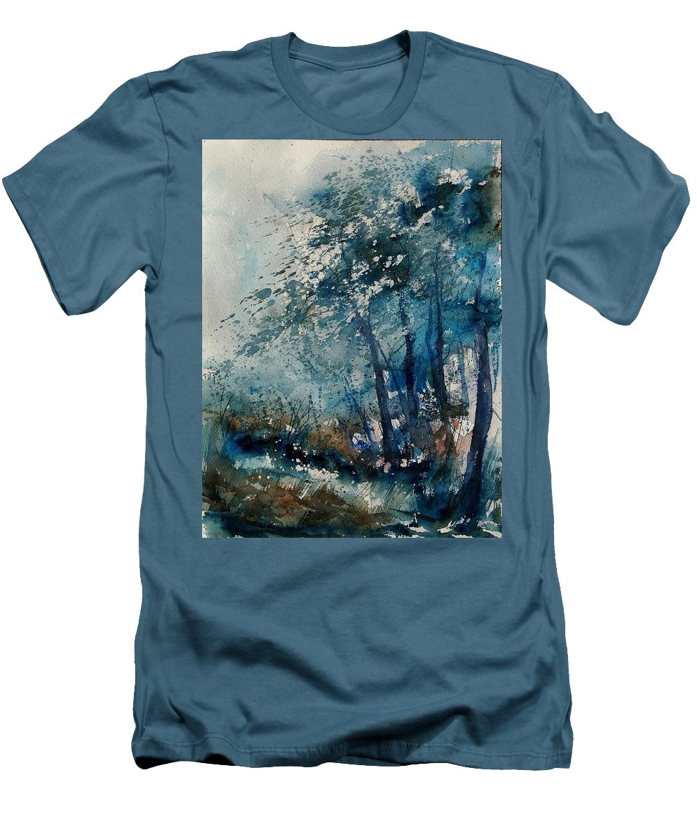 Winter Men's T-Shirt (Athletic Fit) featuring the painting Watercolor 220907 by Pol Ledent