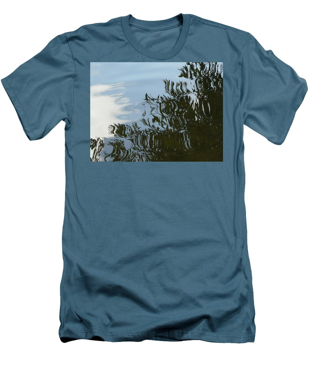 Tree Men's T-Shirt (Athletic Fit) featuring the photograph Weeping Willow Reflection by Valerie Ornstein