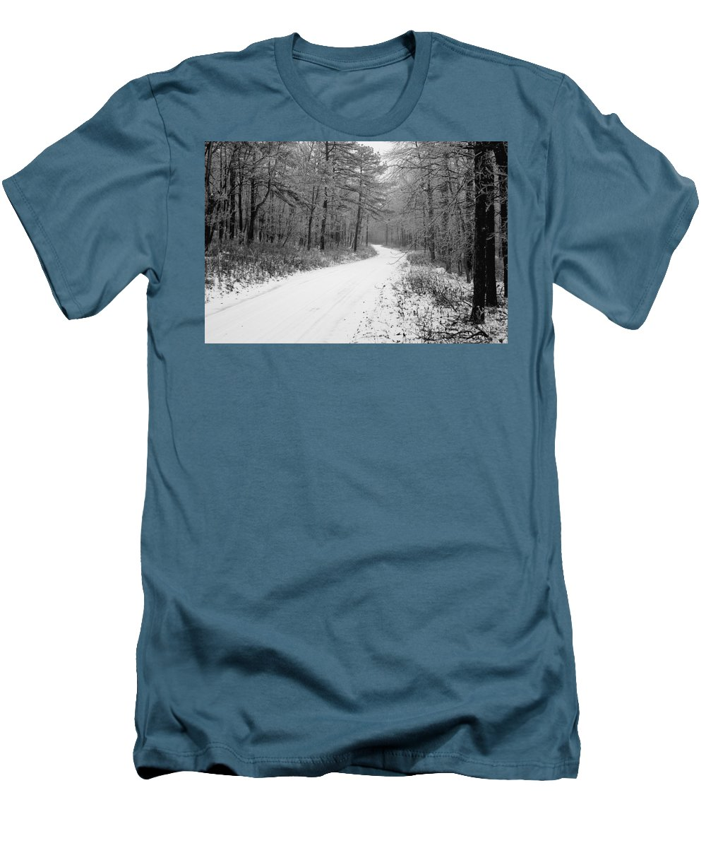 Winter Men's T-Shirt (Athletic Fit) featuring the photograph Where Will It Lead by Jean Macaluso