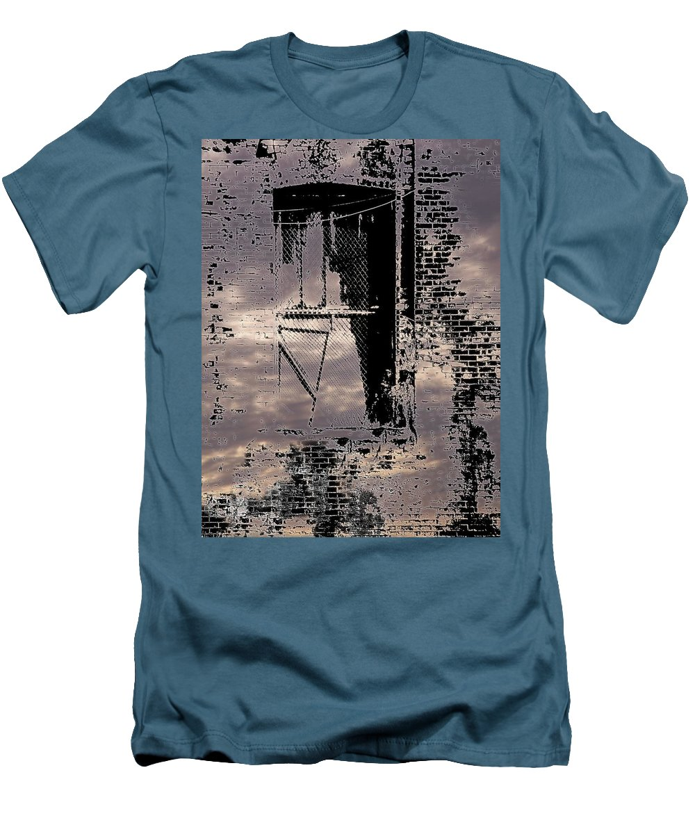 Window Men's T-Shirt (Athletic Fit) featuring the photograph Window 3 by Tim Allen