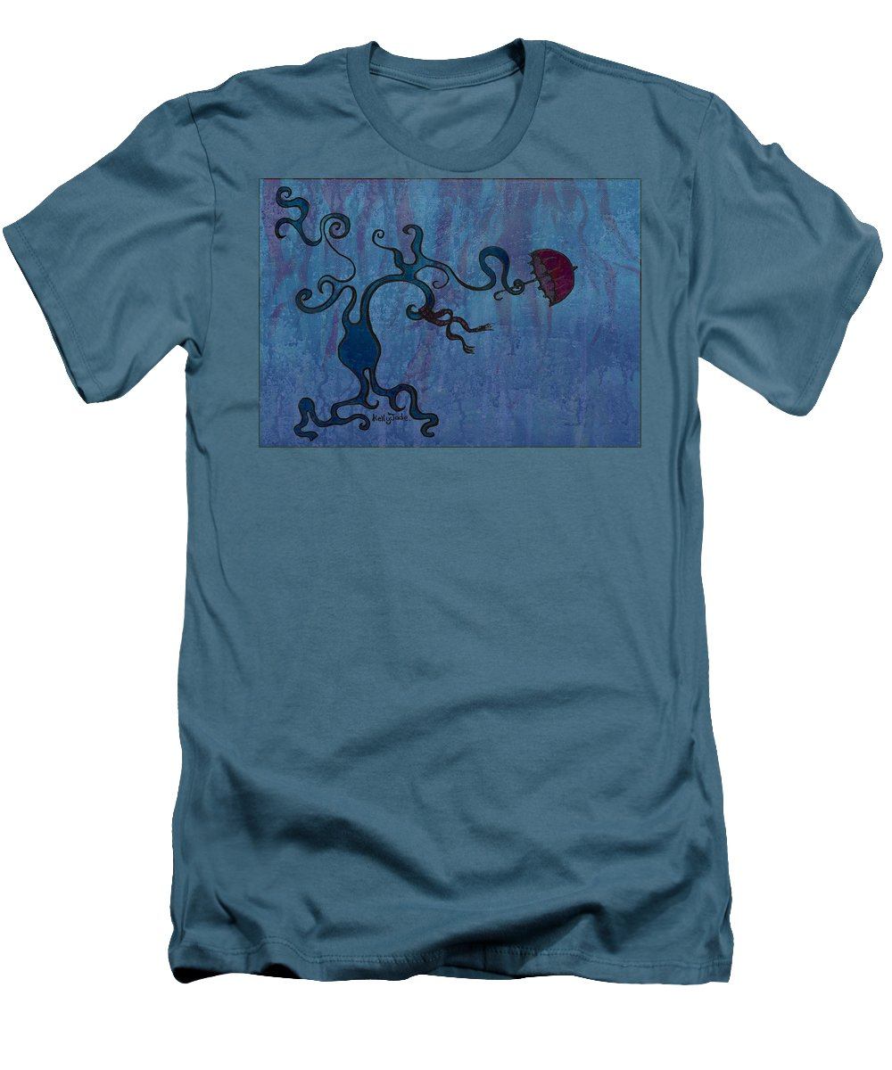 Tree Men's T-Shirt (Athletic Fit) featuring the digital art Winter by Kelly Jade King