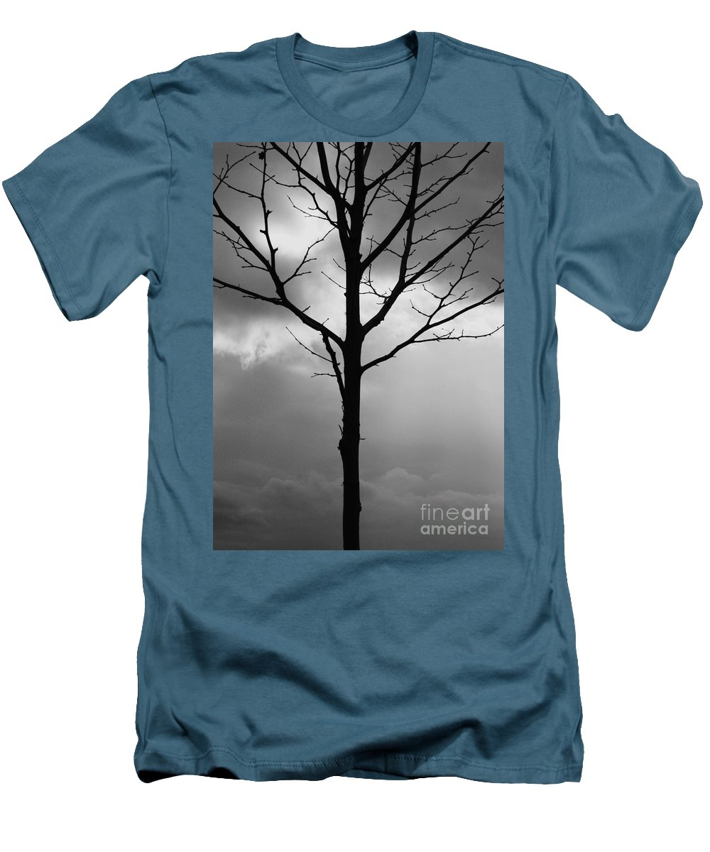 Winter Tree Men's T-Shirt (Athletic Fit) featuring the photograph Winter Tree by Carol Groenen