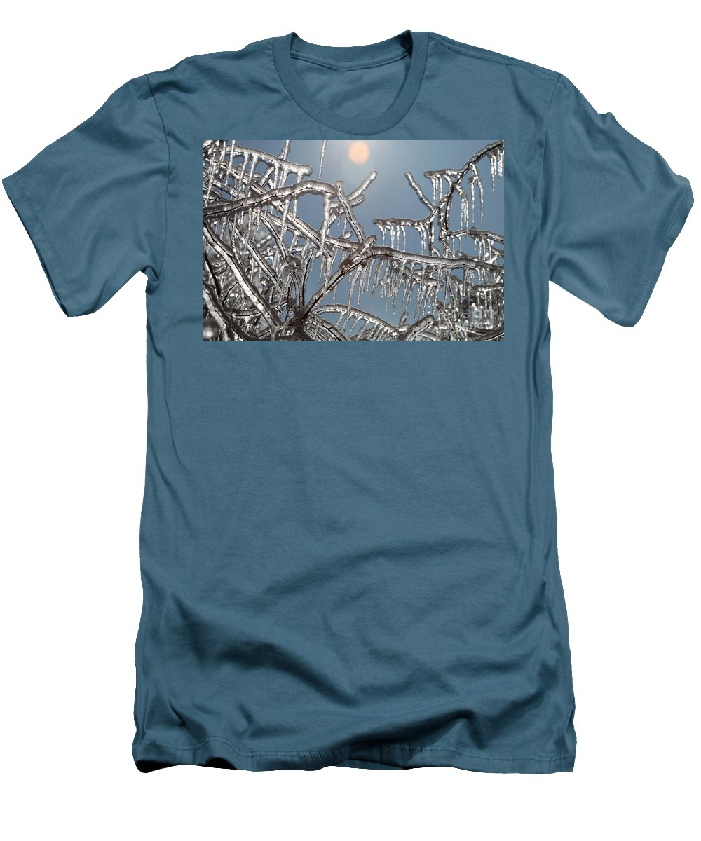 Winter Men's T-Shirt (Athletic Fit) featuring the photograph Winter Warmth by Nadine Rippelmeyer
