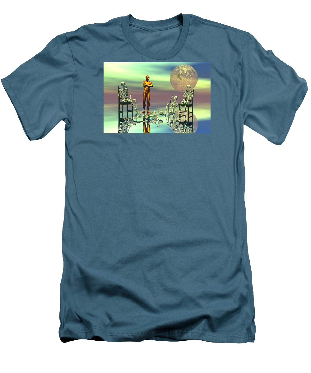 Bryce Men's T-Shirt (Athletic Fit) featuring the digital art Women Waiting For The Perfect Man by Claude McCoy