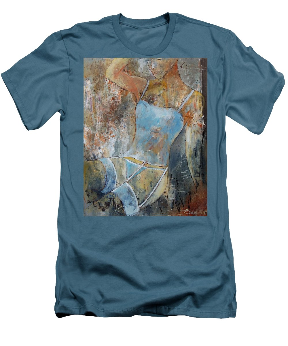 Nude Men's T-Shirt (Athletic Fit) featuring the painting Young Girl 451108 by Pol Ledent