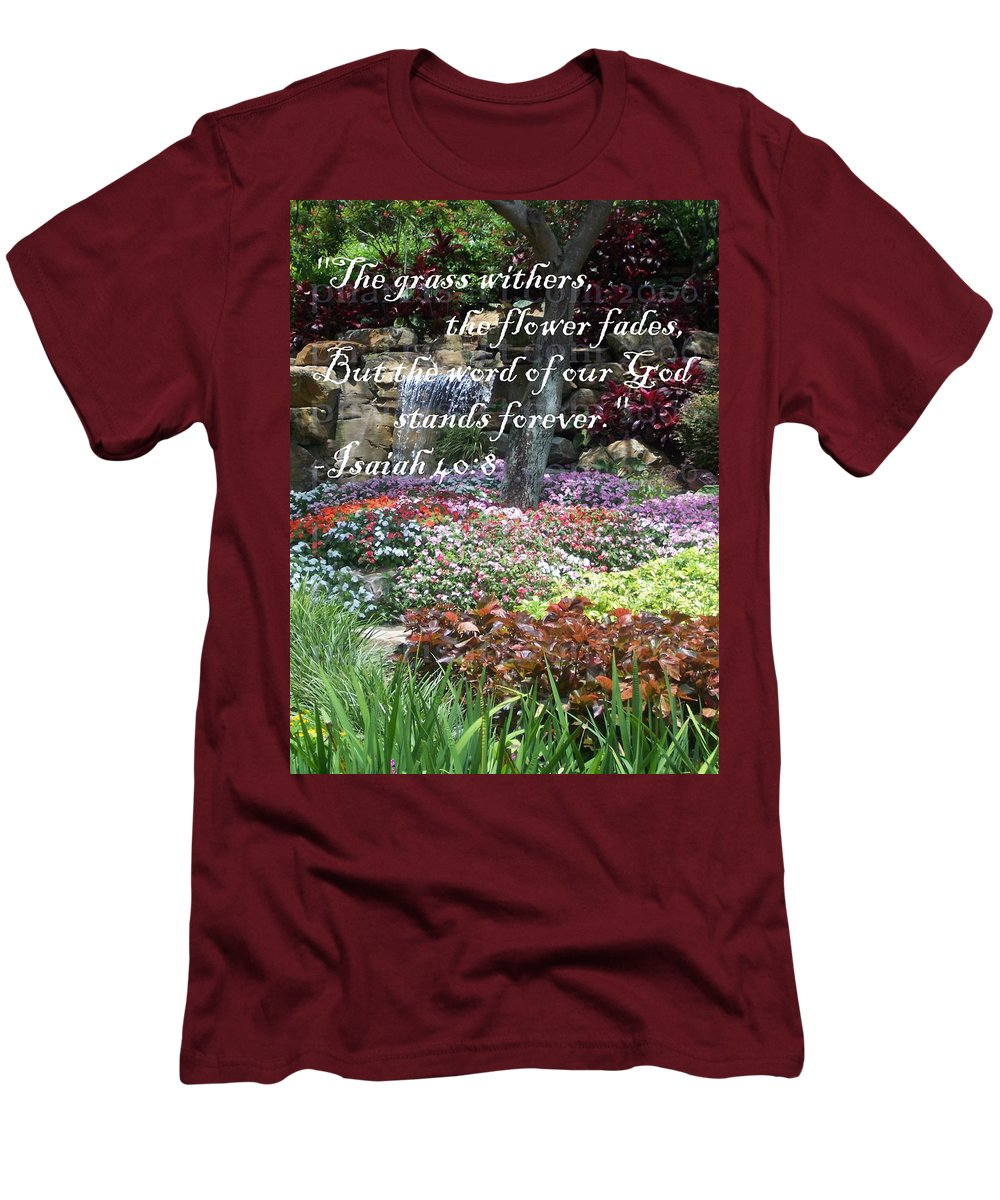 Inspirational Men's T-Shirt (Athletic Fit) featuring the photograph Stands Forever by Pharris Art