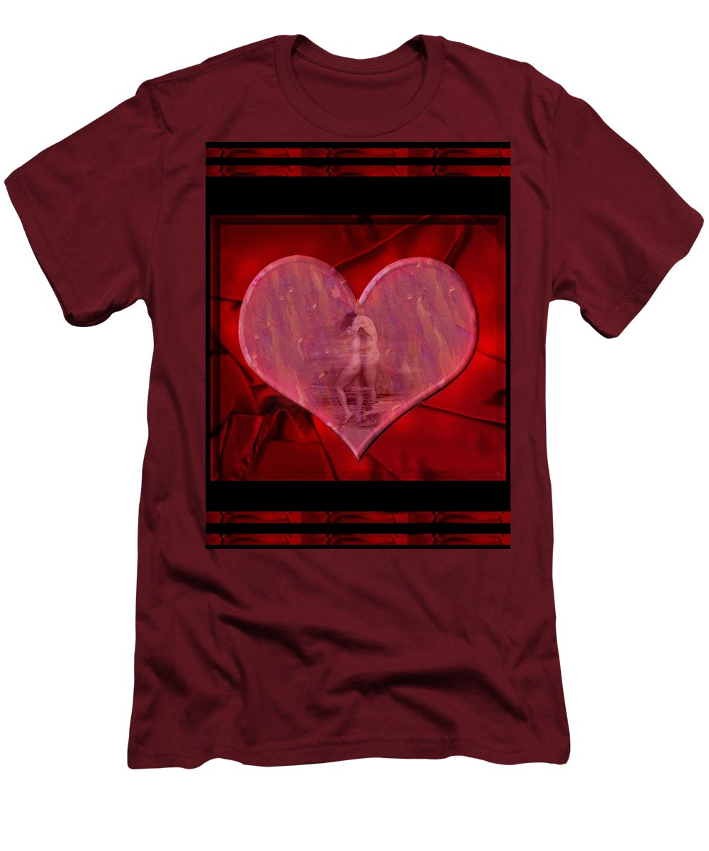 Nude Men's T-Shirt (Athletic Fit) featuring the photograph My Hearts Desire by Kurt Van Wagner