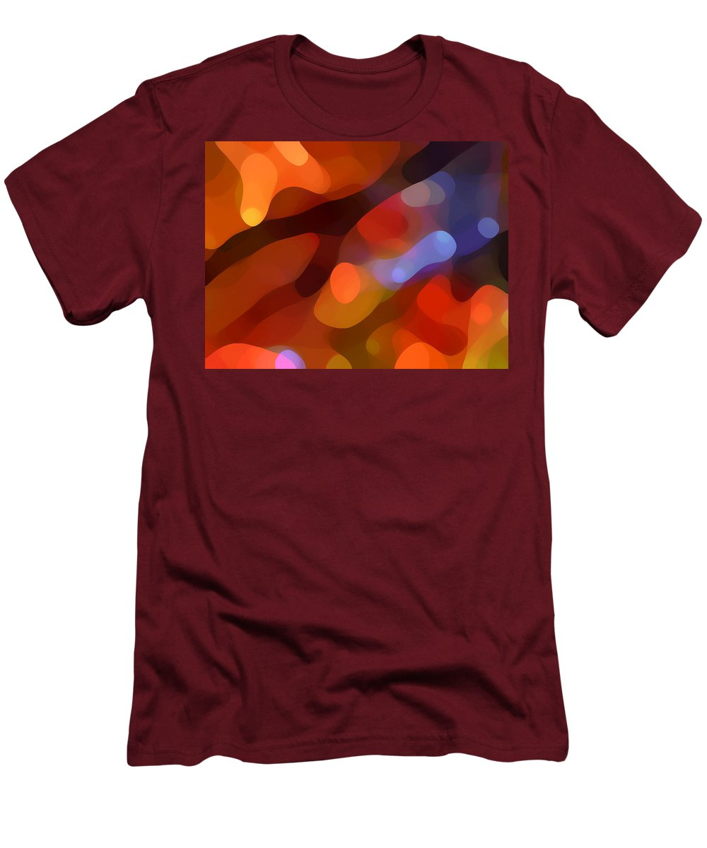 Abstract Art Men's T-Shirt (Athletic Fit) featuring the painting Abstract Fall Light by Amy Vangsgard