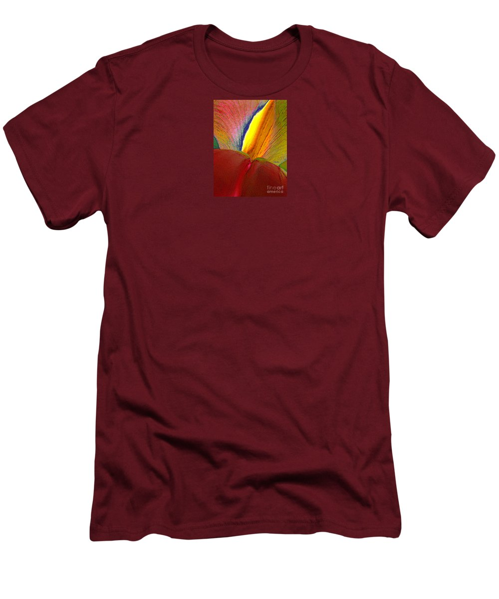 Abstract Men's T-Shirt (Athletic Fit) featuring the photograph Abstract Iris 2 by Linda Parker
