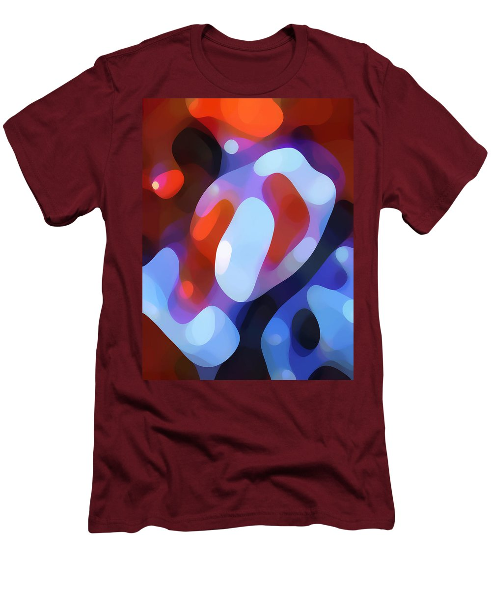 Abstract Men's T-Shirt (Athletic Fit) featuring the painting Light Through Fall Leaves by Amy Vangsgard