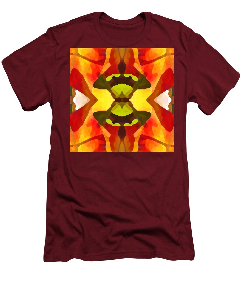 Abstract Men's T-Shirt (Athletic Fit) featuring the painting Tropical Leaf Pattern 1 by Amy Vangsgard