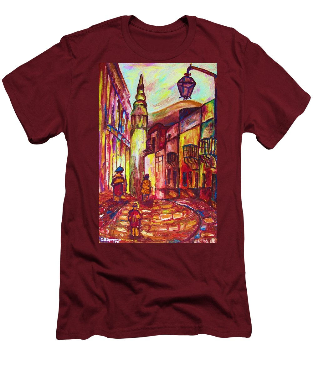 Paris Men's T-Shirt (Athletic Fit) featuring the painting Montmartre by Carole Spandau