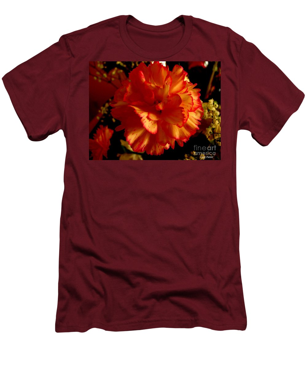 Patzer Men's T-Shirt (Athletic Fit) featuring the photograph Carnation by Greg Patzer