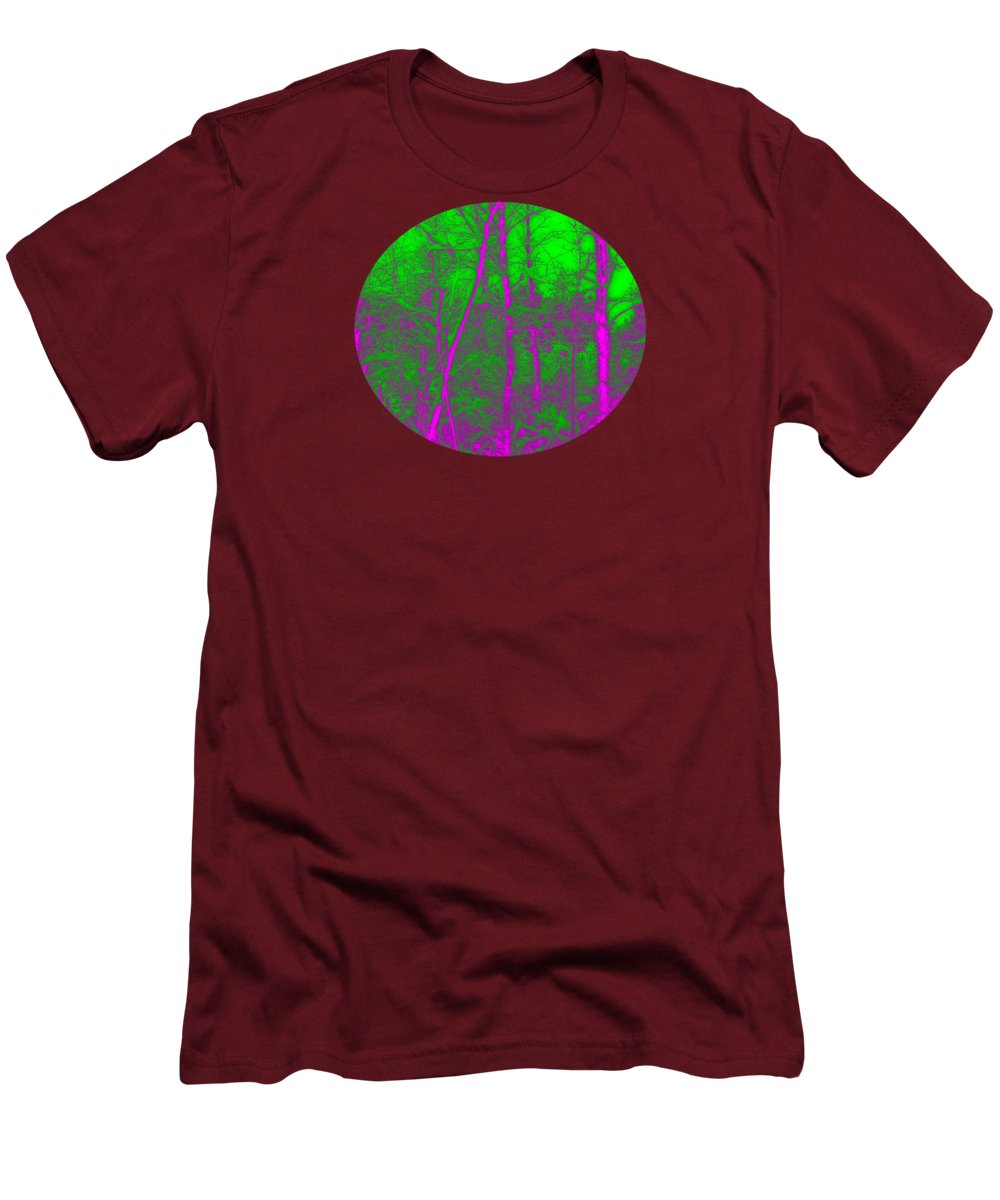 Acid Men's T-Shirt (Athletic Fit) featuring the digital art Acid Forest by Alan Hogan