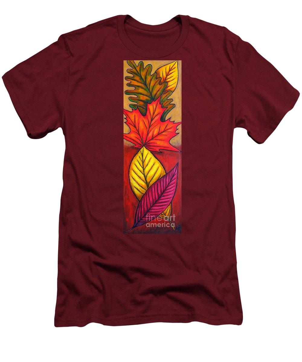 Autumn Men's T-Shirt (Athletic Fit) featuring the painting Autumn Glow by Lisa Lorenz